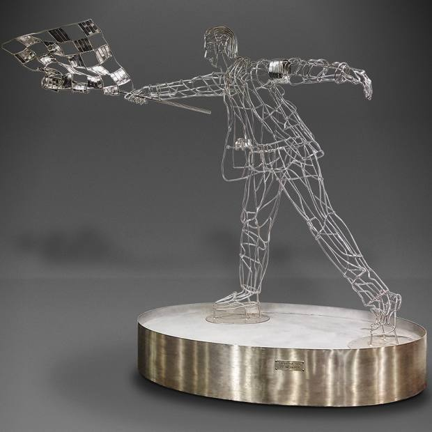Chequered Flag sculpture by Tim Tolkien (great-nephew of the author), estimated at £5,000-£10,000