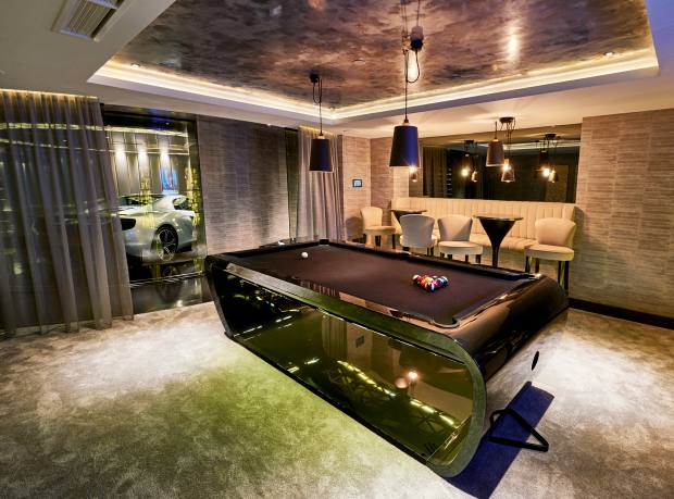 The games room with a bespoke Billards Toulet pool table, €31,800