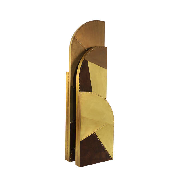 Brabbu patinated brass Canyon folding screen, €14,010