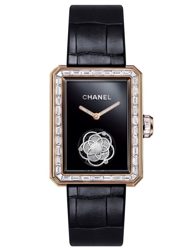 Chanel beige gold and diamond Première Flying Tourbillon Openwork on alligator strap, £243,000