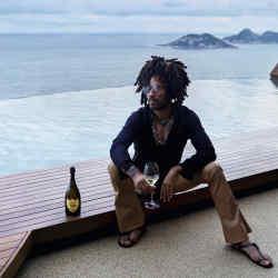 Lenny Kravitz enjoys a glass of Dom Pérignon Vintage 2008