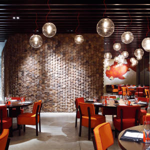 The Paola Navone-designed Nahmyaa Thai restaurant at Como Point Yamu hotel