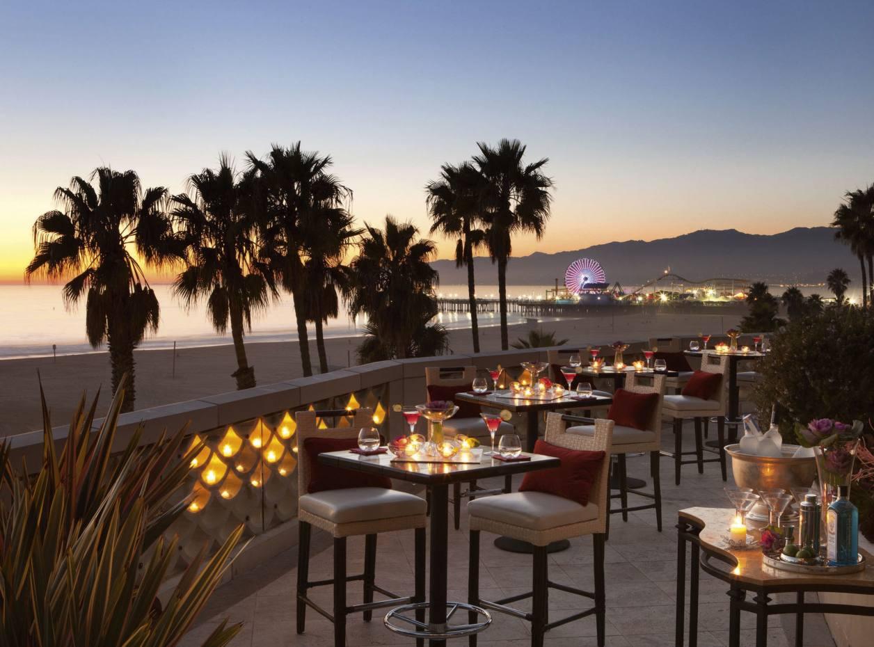 The Bow terrace at Casa del Mar hotel, Santa Monica