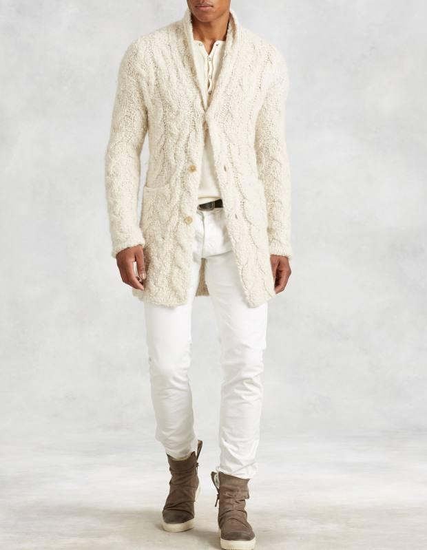 John Varvatos alpaca/merino-wool cardigan, £707