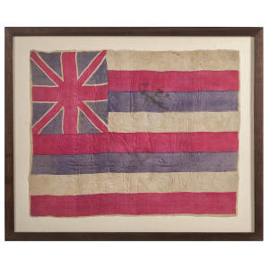 19th-century Hawaiian silk flag, €12,000-€15,000