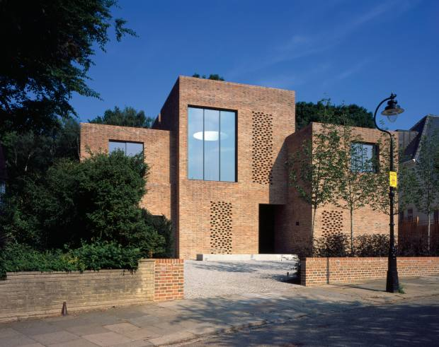 Handmade Danish bricks in soft and variegated tones were used on this Carmody Groarke-designed house in north London