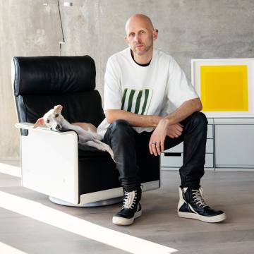 Wayne McGregor at home in London