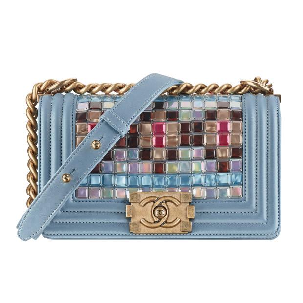 Chanel lambskin and mosaic Boy bag, £4,238