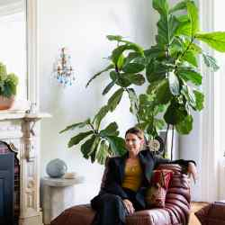 Lindsey Adelman in her Brooklyn home