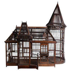 19th-century walnut Carpenter Masterpiece cage, €23,000, from Raphaël Bedos at 1stdibs