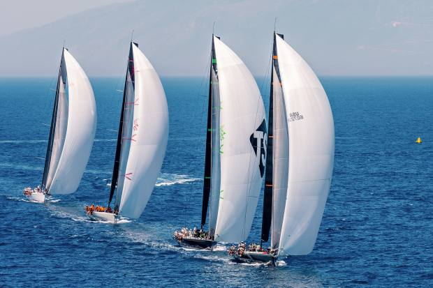 Proteus leads the other Maxi 72s in last year's Corfu Challenge