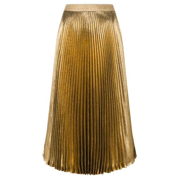 Christopher Kane metallic pleated skirt, £295