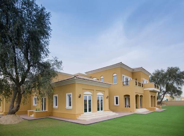 The villa's exterior