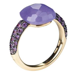Pomellato Capri ring in rose gold, dyed jade and amethyst, £1,900