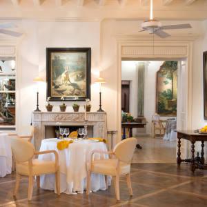 The dining room at Les Prés d'Eugénie