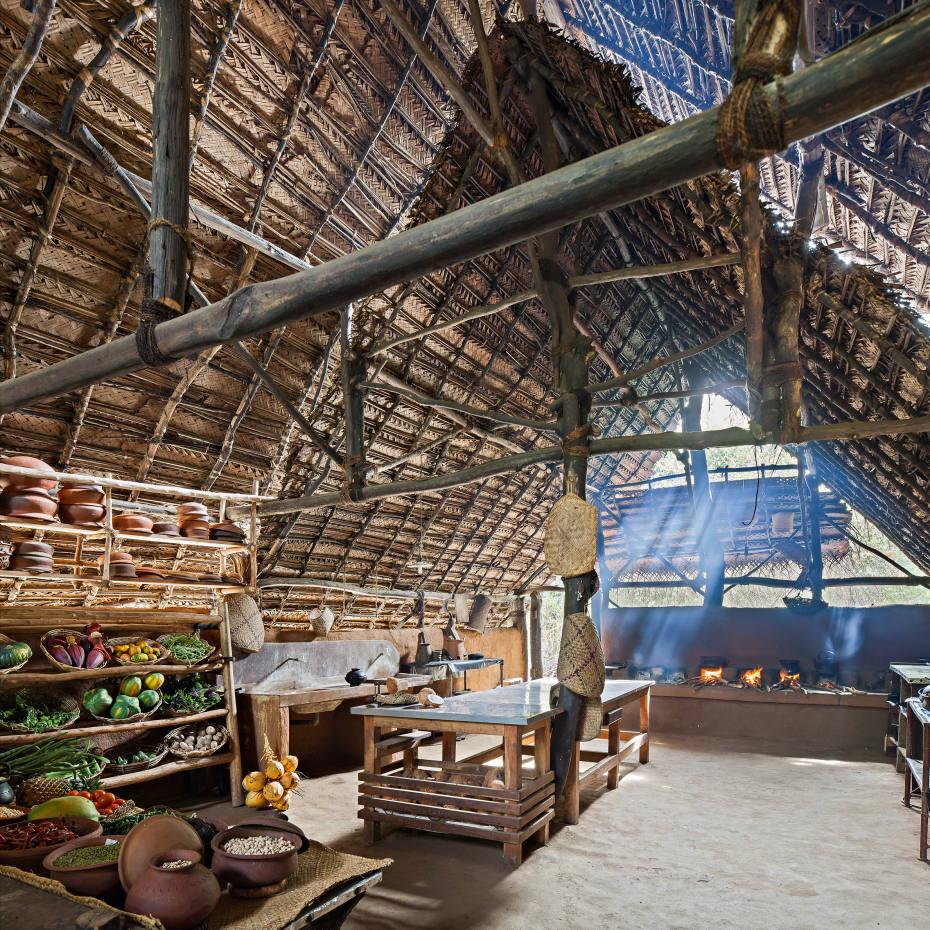 The kitchen at The Mudhouse, Sri Lanka