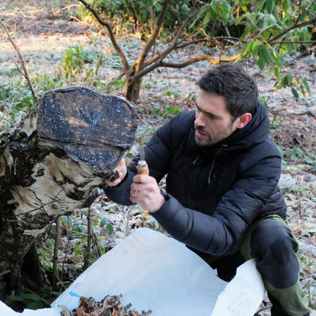 Designer Max Lamb at work in the grounds of Harewood House