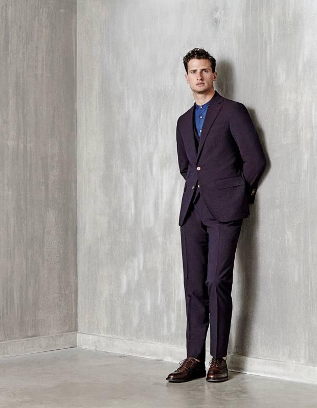 Thom Sweeney cotton/wool/silk suit, £1,975