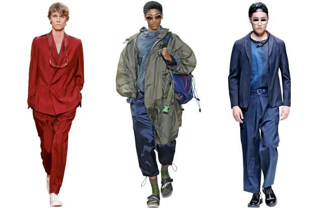 Ermenegildo Zegna silk suit, £4,200. Louis Vuitton silk parka, £2,270. Emporio Armani silk jacket, £730