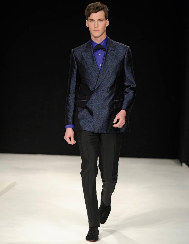 E Tautz silk Jacquard blazer, £895, and mohair-mix trousers, £365