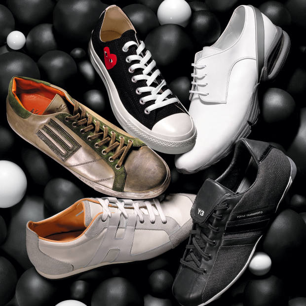 65e2089146cc Clockwise from top right  Calvin Klein Collection calf leather sneakers