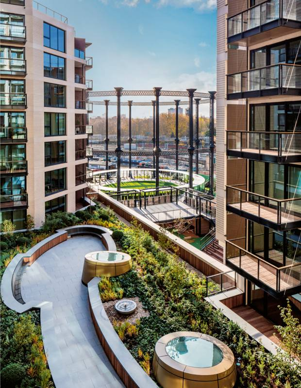 The Podium Garden at The Plimsoll Building, King's Cross, apartments from £1.1m through Knight Frank