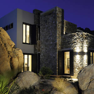 One of four luxury villas in the new Super Paradise resort on Mykonos, for sale at €3.5m with Beauchamp Estates.