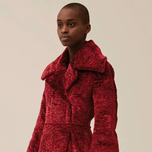 Awake cotton/viscose Astrakhan coat, £956