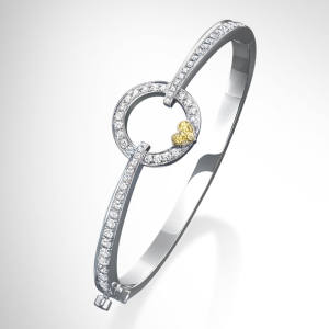 Boodles white-gold and diamond bangle, £10,000