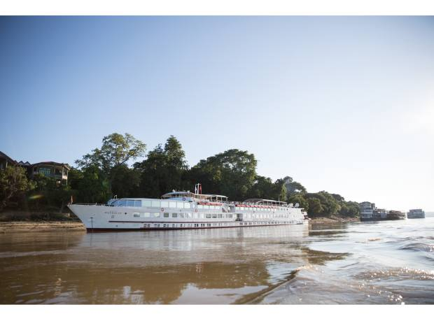 Belmond's Myanmar cruise along the Ayeyarwady River on the Road to Mandalay