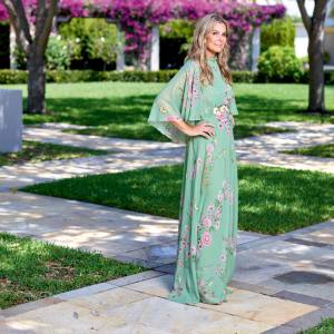 Aerin Lauder in front of the Society of the Four Arts