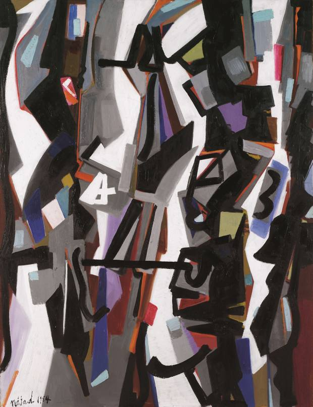 Abstract Composition by Nejad MelihDevrim (1954)