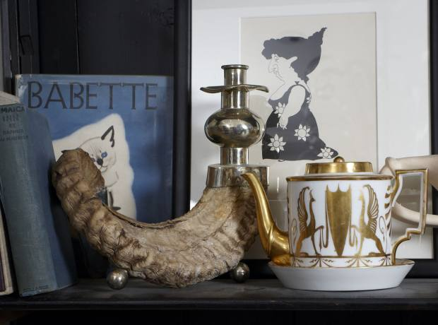 Stock ranges from a first edition of Jamaica Inn by Daphne du Maurier, £125, to an antique teapot, £250.