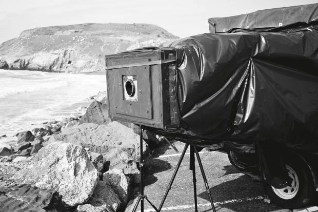 Chiara designs and builds his own huge cameras and transports them on a trailer