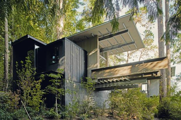 Olson's home began life as a cabin and has been modified and extended numerous times