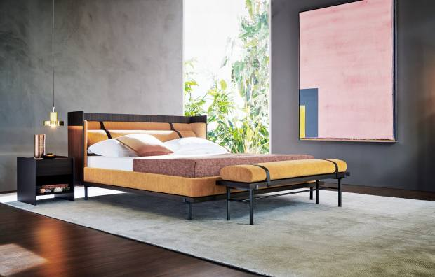 Comfortable colours cocoon the Molteni&C Twelve AM bed by Neri & Hu, from £7,927