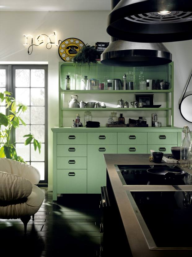 The laid-back look so typical of the Diesel brand informs its kitchen collaboration with Scavolini (from the Misfits Collection), with its informal, rough-luxe pieces that have a retro-industrial vibe