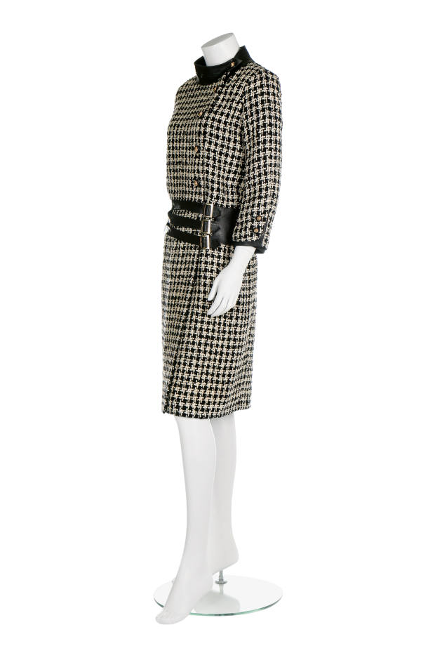 dc6b9686226ab2 1965 Chanel tweed and kid leather suit, sold for £11,875 at Kerry Taylor  Auctions