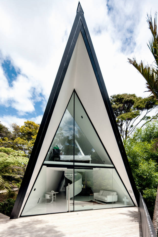 Chris Tate's Tent House in New Zealand was similarly inspired by the simple shape of his tent on a camping trip