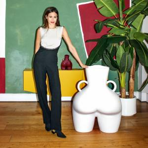 Anissa Kermiche with her Love Handles vase, £340, from conranshop.co.uk