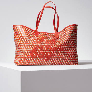 Anya Hindmarch's recycled-plastic and sustainable-leather I Am a Plastic Bag, £595