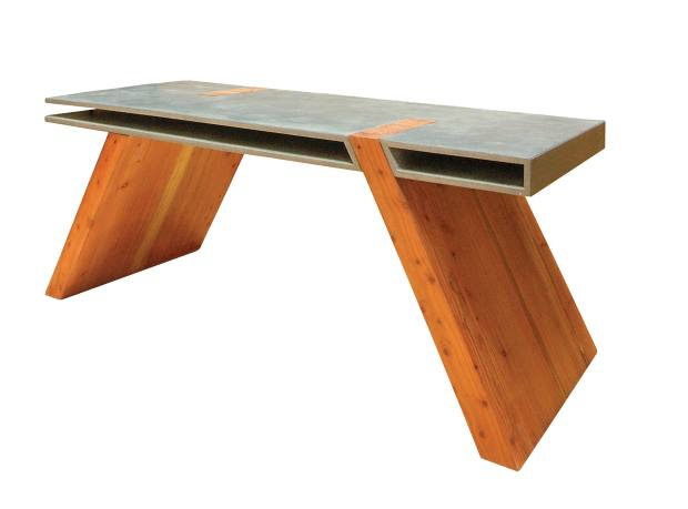 Leigh Cameron concrete and sequoia Weight of Space desk, from £5,000