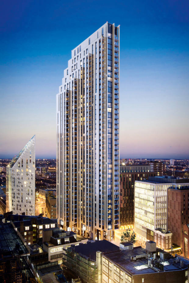 The 40-storey Atlas Building, close to Old Street's Silicon Roundabout in London, has apartments starting from £1.037m