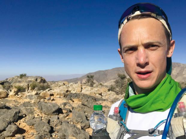 Halfway through his seven-hour canyon run