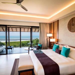 A deluxe ocean‑view room at Anantara Kalutara Resort, Sri Lanka