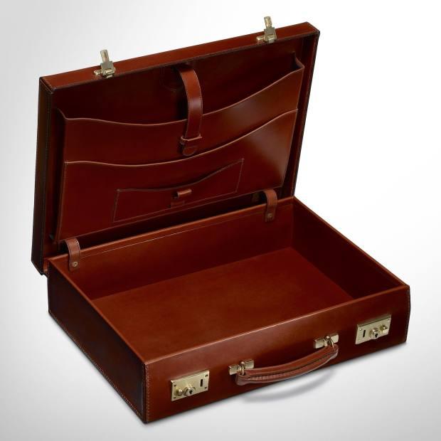 The William & Son lid-over attaché case, £2,300.