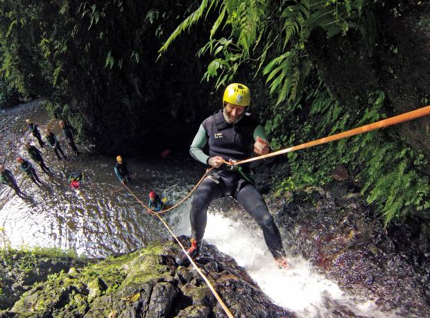 His intrepid canyoning excursion