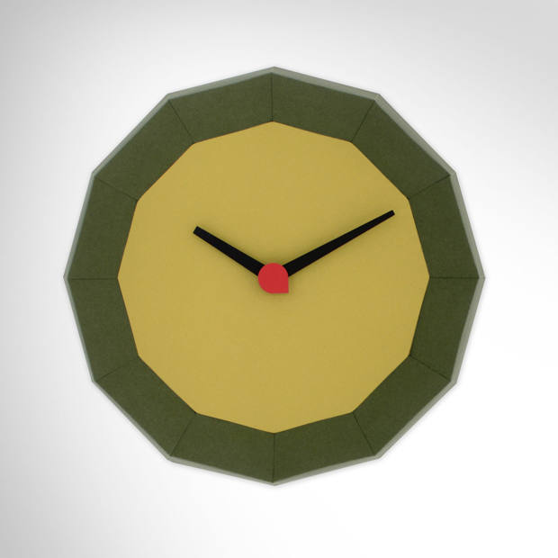 Pirwi paper Doce wall clock, $139, by Adrián Corrales-Ayala