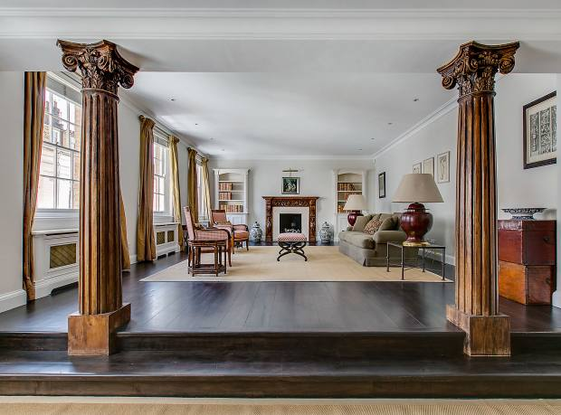The reception room of a three-bedroom house in Burton Mews, Belgravia, £6.25m through Henry & James