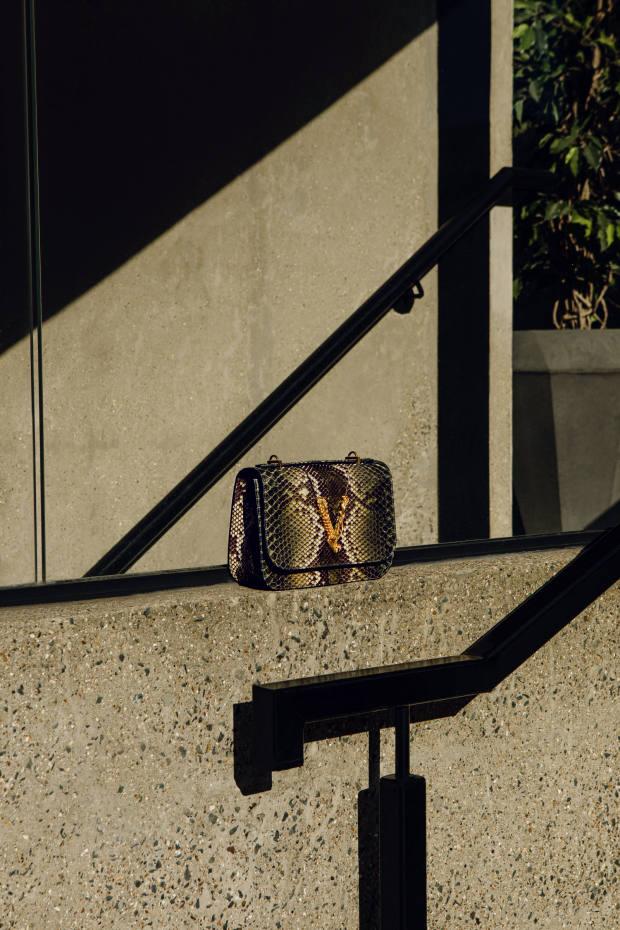 Versace python Virtus bag, £2,500
